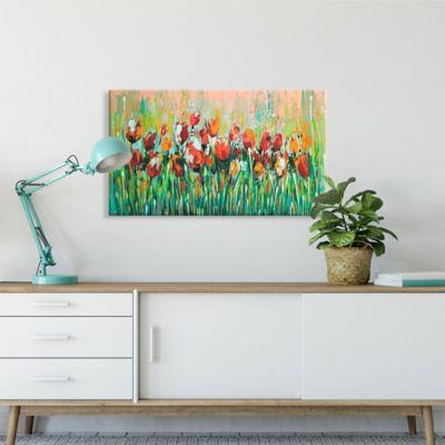 Lienzo Decorativo Flores Ocres Configurable 45-60x80-100cm