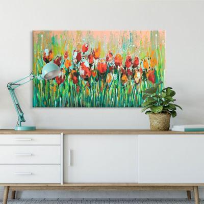 Lienzo Decorativo Flores Ocres Configurable 60-70x100-120cm
