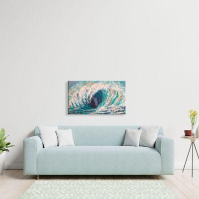 Lienzo Decorativo Ola Azules Configurable 0-45x0-80cm