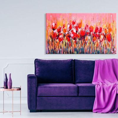 Lienzo Decorativo Flores Rojos Configurable 60-70x100-120cm