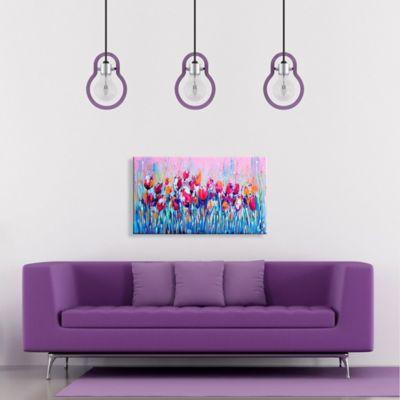 Lienzo Decorativo Flores Azules Configurable 0-45x0-80cm
