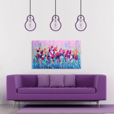 Lienzo Decorativo Flores Azules Configurable 45-60x80-100cm