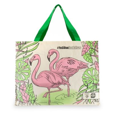 Bolsa Ecológica Flamingo 42x34x18cm Beige