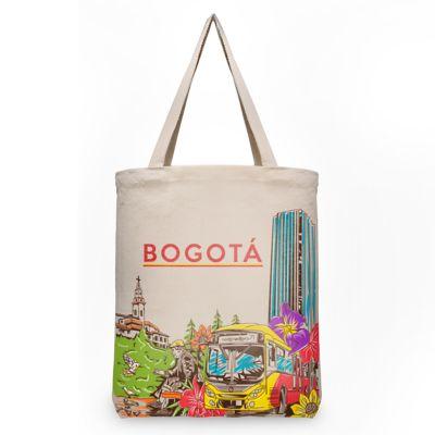 Bolsa Ecológica Bogotá 42x34x18cm Beige
