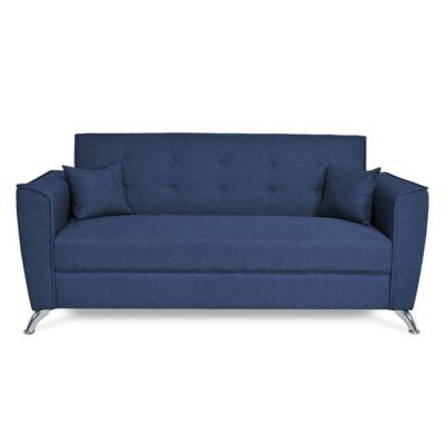 Sofá 3 Puestos Porto 180 centímetros Tela Azul