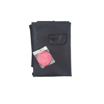 Cobertor Económico + Tazón Plegable Pequeño Rosado