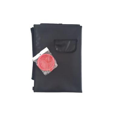 Cobertor Económico + Tazón Plegable Pequeño Rojo