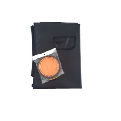 Cobertor Económico + Tazón Plegable Grande Naranja