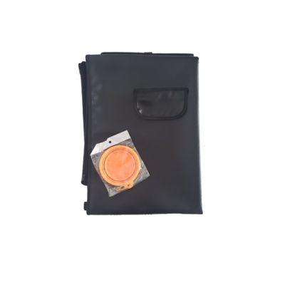 Cobertor Económico + Tazón Plegable Pequeño Naranja
