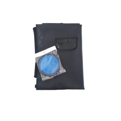 Cobertor Económico + Tazón Plegable Grande Azul