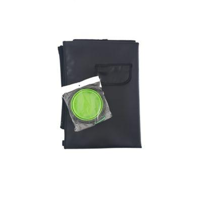 Cobertor Económico + Tazón Plegable Grande Verde