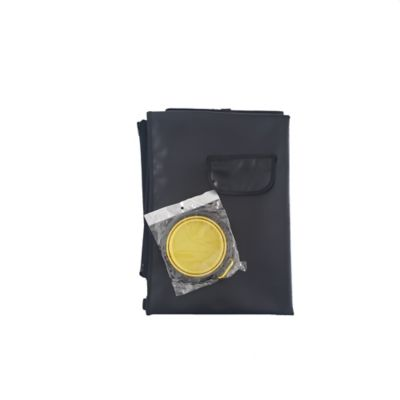 Cobertor Económico + Tazón Plegable Grande Amarillo