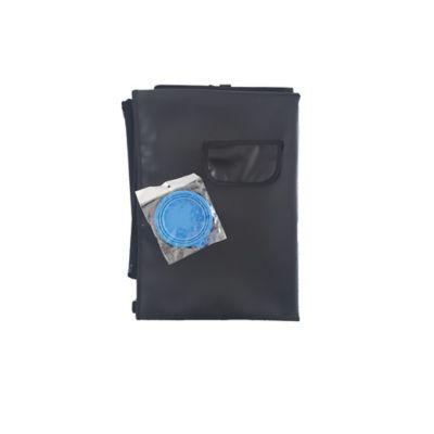 Cobertor Económico + Tazón Plegable Pequeño Azul