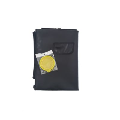 Cobertor Económico + Tazón Plegable Pequeño Amarillo