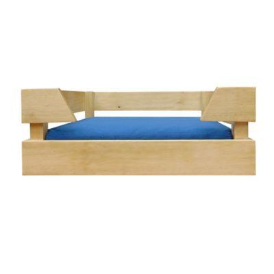 Cama para Mascotas en Pino 53.5x63.5x28cm Azul