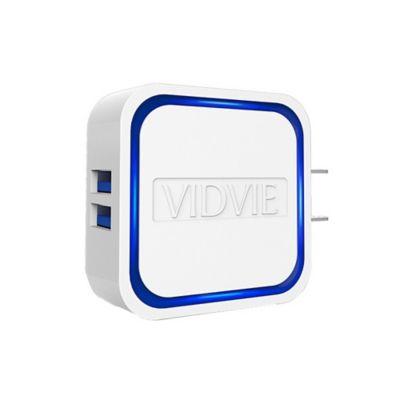 Cargador Pared 2 Puertos USB Cuadrado Carga Rápida
