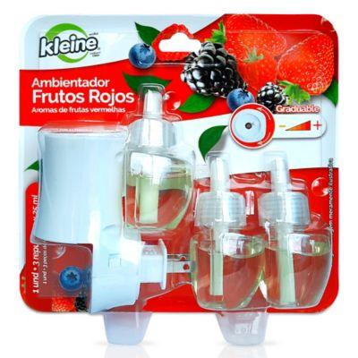 Ambientador Electrico Frutos Rojos + Repuesto 3x25ml cada uno