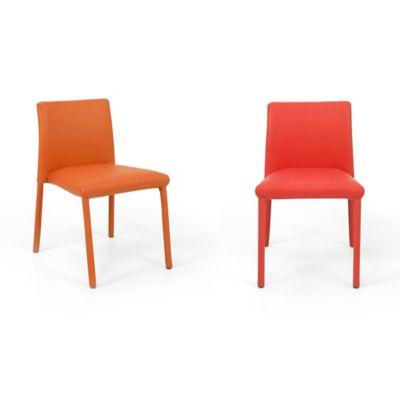 Set x2 Sillas Lugo Kids 34x36 Naranja Rojo