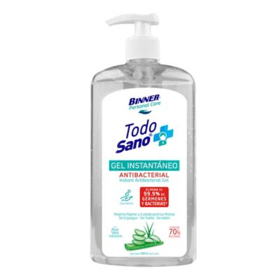Gel Antibacterial x500ml con Aloe Vera Alcohol 70%