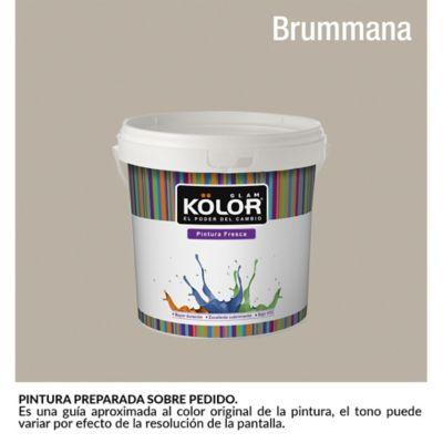 Pintura para interior Gris Claro Brummana Deluxe Mate 1/2 Galón