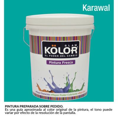 Pintura para Interior Verde Aguamarina Karawal Deluxe Mate 5 Galones
