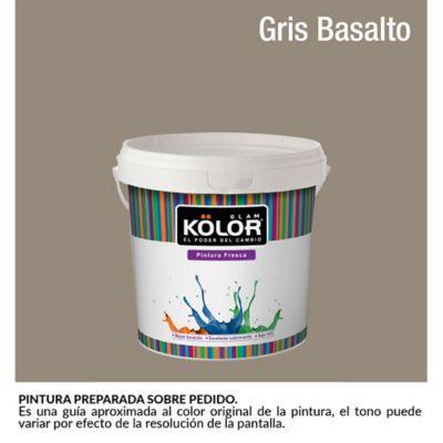 Pintura para Interior Gris Basalto Deluxe Mate 1/2 Galón