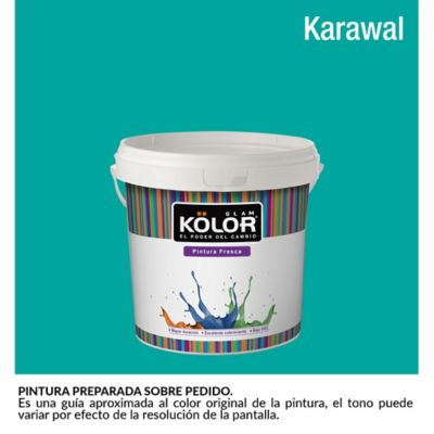 Pintura para Interior Verde Aguamarina Karawal Deluxe Mate 1/2 Galón