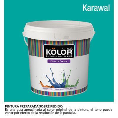 Pintura para Interior Verde Aguamarina Karawal Deluxe Mate 1 Galón