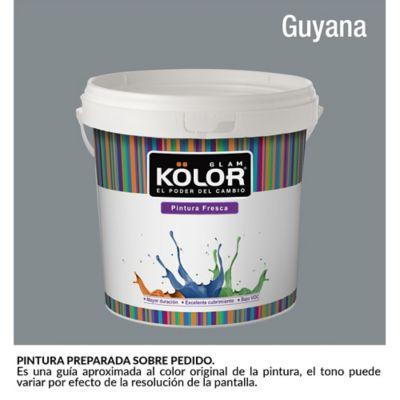 Pintura para Interior Gris Oscuro Guyana Deluxe Mate 1 Galón