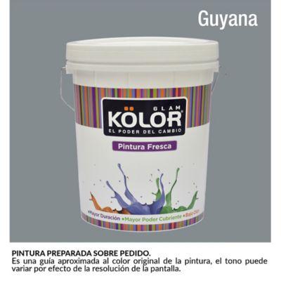 Pintura para Interior Gris Oscuro Guyana Deluxe Mate 5 Galones