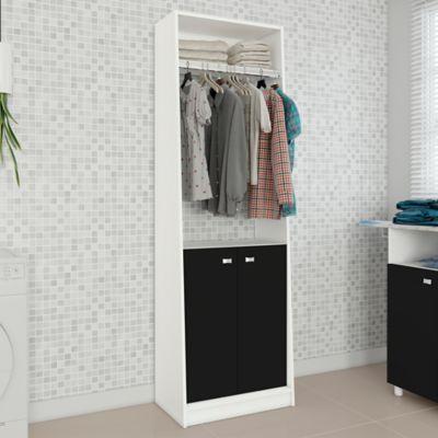 Mueble Auxiliar Cocina Girona Blanc/Negro 183x57x36 cm
