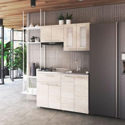 Cocina Integral Ibiza 1.2 Metros Chantilli Incluye Mesón Con Poceta Izquierda