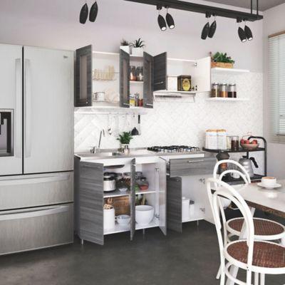 Cocina Integral Ibiza 1.5 Metros Humo Incluye Mesón Con Poceta Izquierda