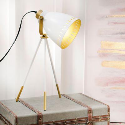 Lámpara de Mesa Odín Blanco/Dorado A60