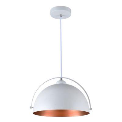 Lámpara Colgante Venecia Blanco Oro Rosado A60