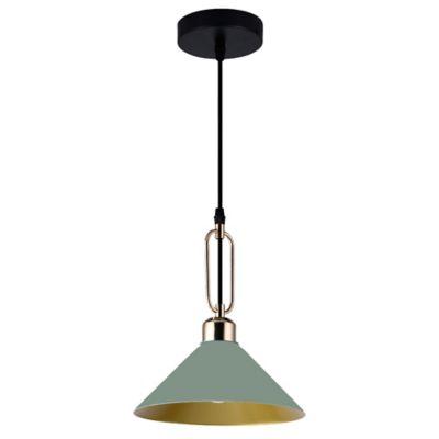 Lámpara Colgante Roma Pistacho/Dorado A60