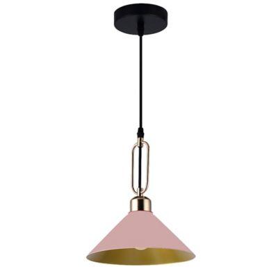 Lámpara Colgante Roma Rosa/Dorado A60