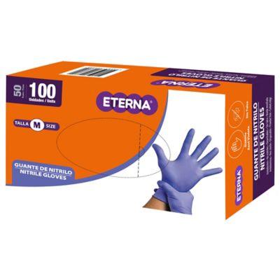 Guante Nitrilo Tipo Examen Azul Talla M Caja x100 Unidades