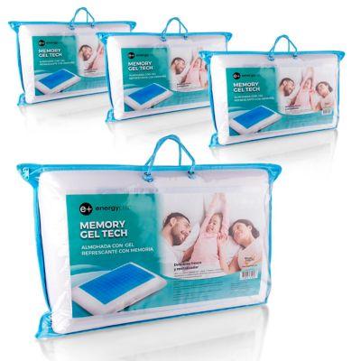 Set x 4 Almohadas Gel Refrescante Memoria 55cm
