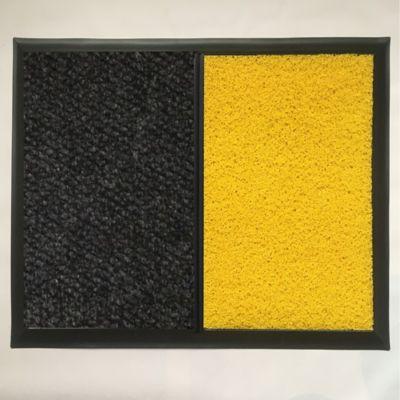 Tapete Lava Zapatos 50x70cm Negro - Amarillo