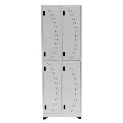 Locker Hospitalario 4 Puestos 180x63x30cm Blanco