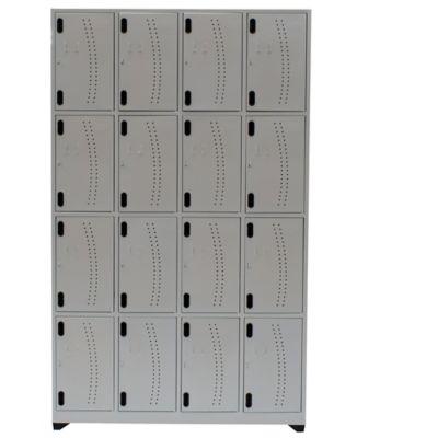 Locker Hospitalario 16 Puestos 200x123x30cm Sin Zap Gris