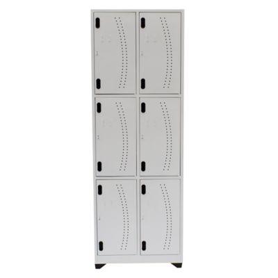 Locker Hospitalario 6 Puestos Vert 180x63x30cm Blanco