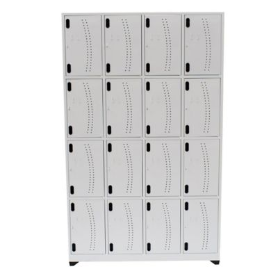 Locker Hospitalario 16 Puestos 200x123x30cm Sin Zap Blanco