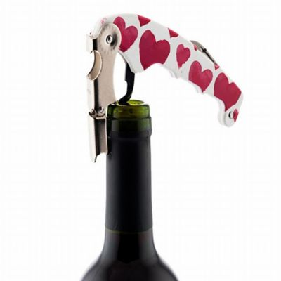 Kit Vino Retro Love Sacacorchos + Porta/Vasos + Marcad