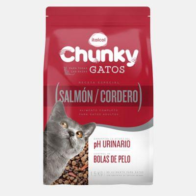 Chunky Gatos Salmón y Cordero x 1.5 Kg