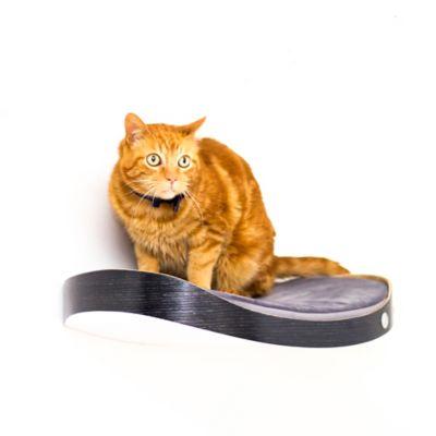 Repisa Flotante para Gatos Repimodo Roble Negro - Gris Oscuro