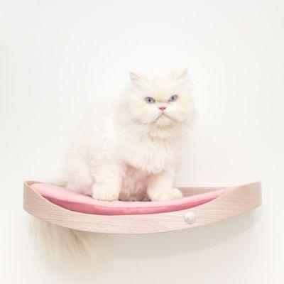 Repisa Flotante para Gatos Repimodo Gris Plata - Rosado
