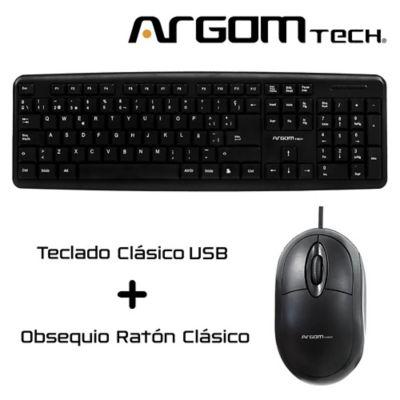 Teclado Clásico en Español USB Negro KB-7414