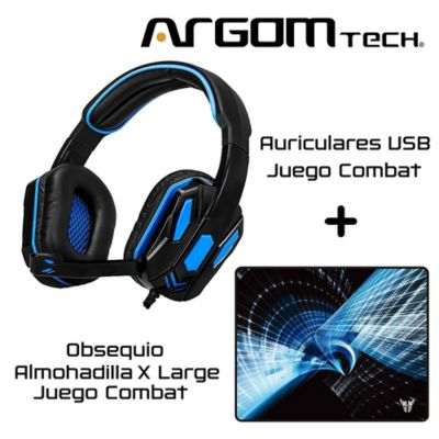 Audífonos para Juego Combat USB - Negro-Azul